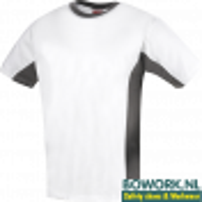T-Shirt Workman Wit-Grijs 0408