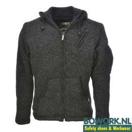 Wollen vest Pure Wool WJK-1323 Antraciet