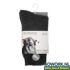 Wollen sokken Woolwarmers Antraciet Eskimo