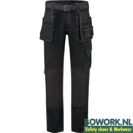 Werkbroek Workman Design Worker 8065 Zwart voorzijde