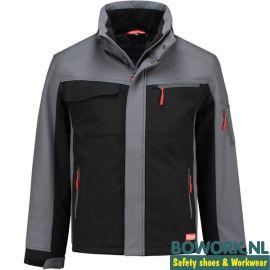 Winter shoftshell jas Workman Grijs - Zwart