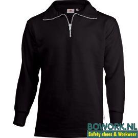 Zipneck Sweater Uniwear Zwart
