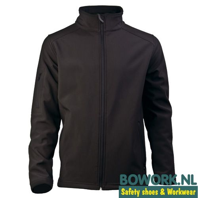 Softshell jack Uniwear Zwart